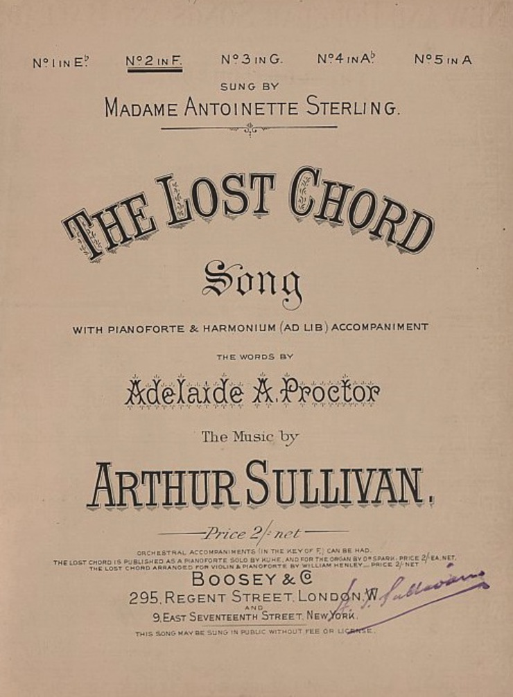 Sir Arthur Sullivan's 'The Lost Chord'